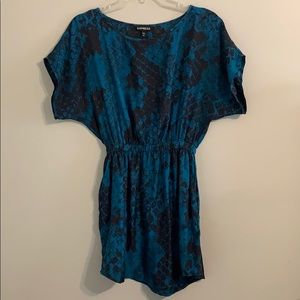 Express teal and black dress size XS